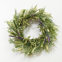 Grassy Meadow Lavender Natural Twig Wreath