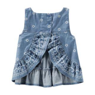Toddler Girl OshKosh B'gosh® Floral Vented-Back Chambray Top
