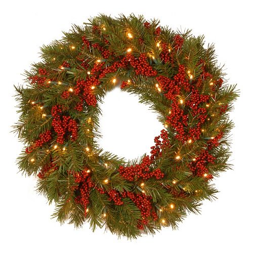 National Tree Company 24 in. Artificial Valley Pine Wreath
