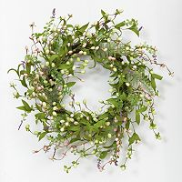 Wild Flower Natural Twig Wreath