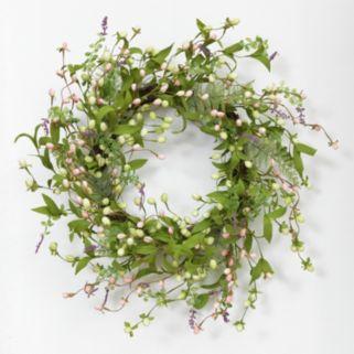 Wild Flower Natural Twig Wreath
