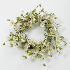 Summer Daisy Natural Twig Wreath