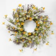 Daisy Natural Twig Wreath