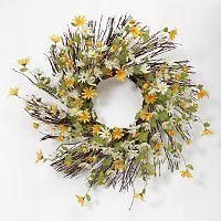 Daisy Natural Twig Wreath