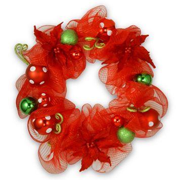 National Tree Company 30-in. Mesh Ribbon Christmas Wreath