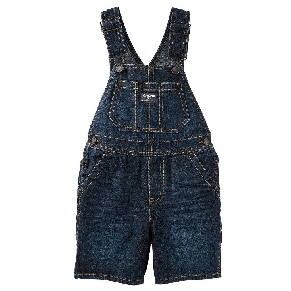 Baby Boy OshKosh B'gosh® Whiskered Denim Shortalls