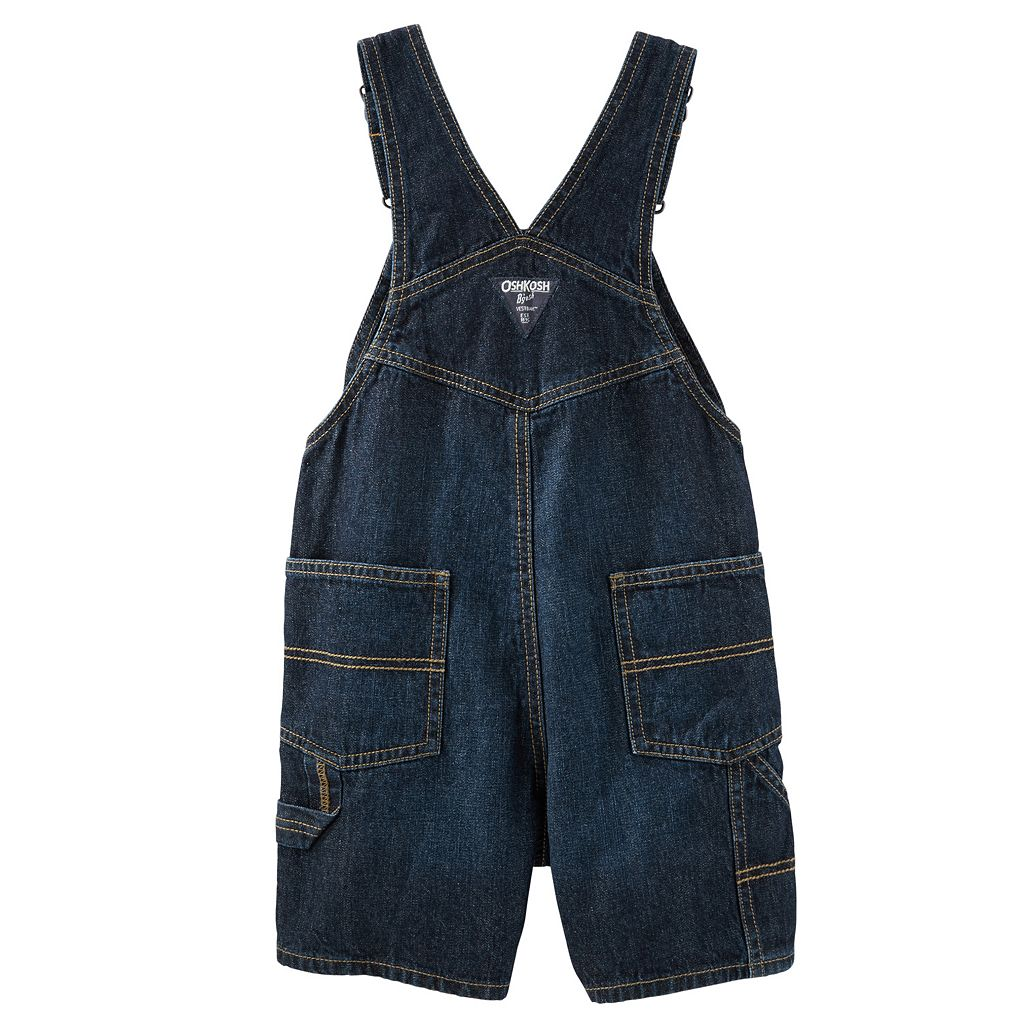 Baby Boy OshKosh B'gosh® Whiskered Denim Shortalls