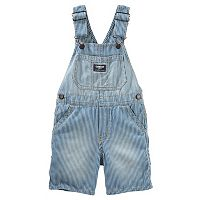 Baby Boy OshKosh B'gosh® Hickory Striped Denim Shortalls