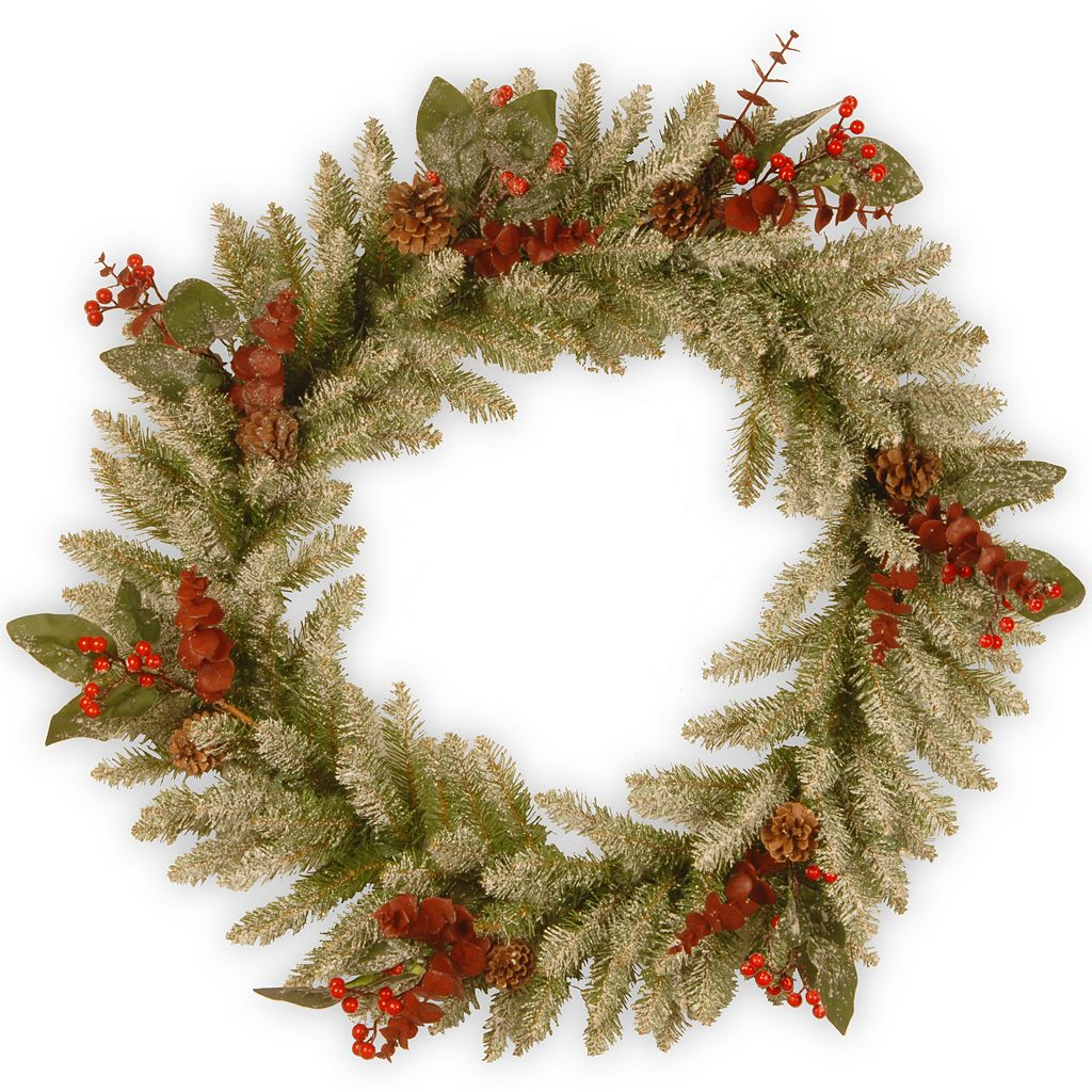 National Tree Company 24-in. Pre-Lit Artificial Christmas Wreath