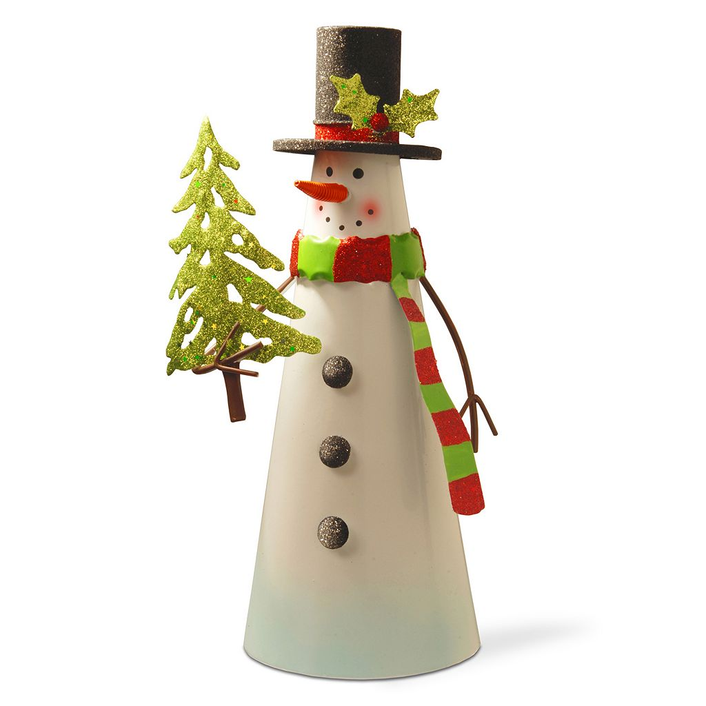 National Tree Company Metal Snowman Table Decor