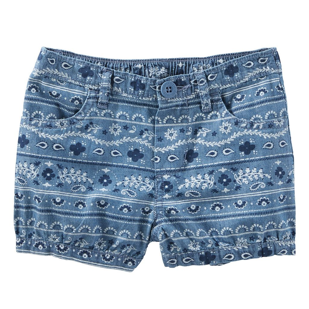 Toddler Girl OshKosh B'gosh® Print Denim Bubble Shorts