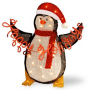 National Tree Company Pre-Lit 29 in Tinsel Penguin Decor