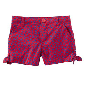 Toddler Girl OshKosh B'gosh® Floral Patterned Side Tie Shorts