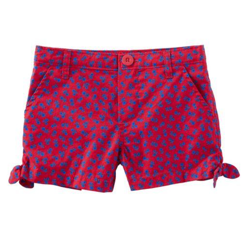 Toddler Girl OshKosh B'gosh® Floral Patterned Side Tie Shorts