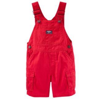 Baby Boy OshKosh B'gosh® Solid Canvas Cargo Shortalls