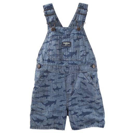 Baby Boy OshKosh B'gosh® Sharks Chambray Shortalls