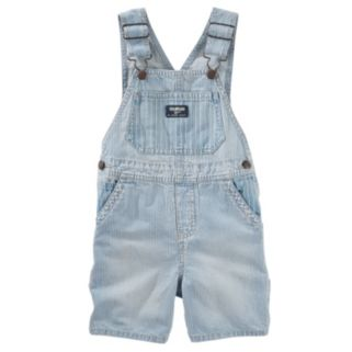 Baby Boy OshKosh B'gosh® Hickory-Stripe Denim Shortalls