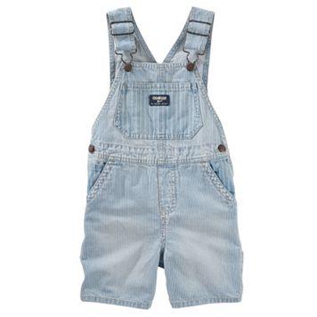 Baby Boy OshKosh B'gosh® Hickory-Stripe Denim Shortalls