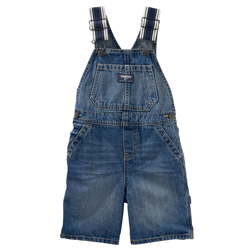Baby Boy OshKosh B'gosh® Striped-Strap Denim Shortalls