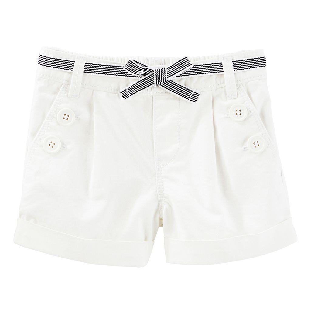 Toddler Girl OshKosh B'gosh® White Sailor Shorts