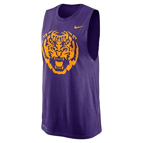 Women's Nike LSU Tigers Dri-FIT Muscle Tee