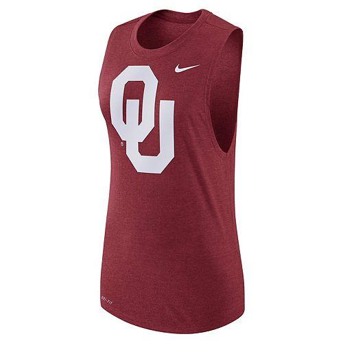 Women's Nike Oklahoma Sooners Dri-FIT Muscle Tee