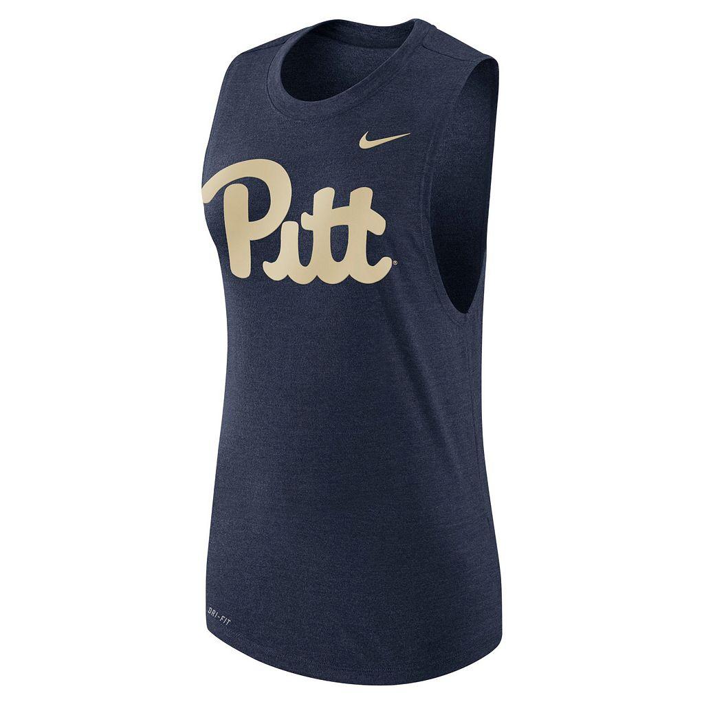 Women's Nike Pitt Panthers Dri-FIT Muscle Tee