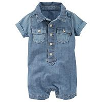 Baby Boy OshKosh B'gosh® Chambray Henley Romper