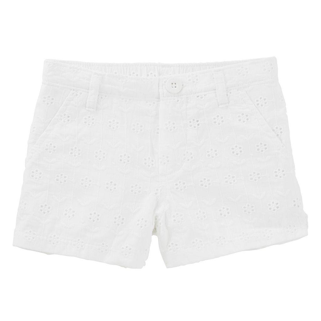 Toddler Girl OshKosh B'gosh® White Eyelet Shorts