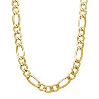 Everlasting Gold Men's 14k Gold Figaro Chain Necklace - 22 in