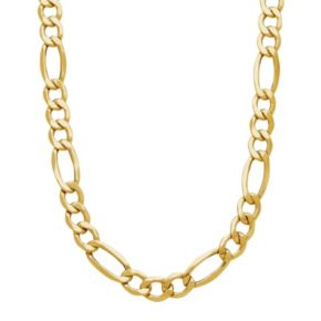 Everlasting Gold Men's 14k Gold Figaro Chain Necklace - 22 in.