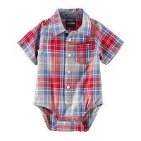 Baby Boy OshKosh B'gosh® Plaid Button-Down Bodysuit