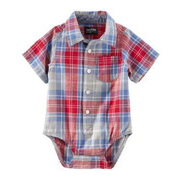 Baby Boy OshKosh B'gosh® Plaid Button-Down Bodysuit