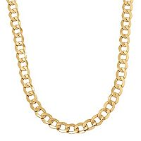 Everlasting Gold Men's 14k Gold Curb Chain Necklace - 22 in