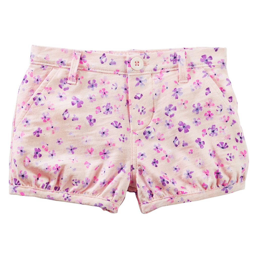 Toddler Girl OshKosh B'gosh® Floral Pattern Bubble Shorts