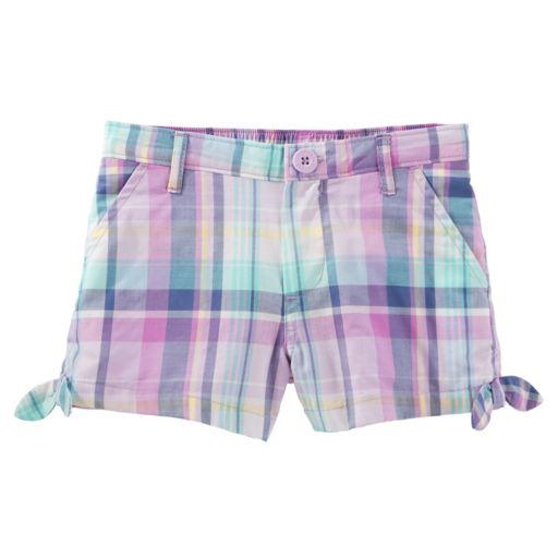 Toddler Girl OshKosh B'gosh® Plaid Side-Tie Shorts