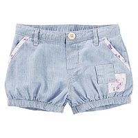 Toddler Girl OshKosh B'gosh® Hickory-Striped Patchwork Bubble Shorts
