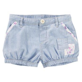 Toddler Girl OshKosh B'gosh® Hickory-Striped Patchwork Bubble Shorts