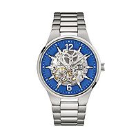 Caravelle New York by Bulova Men's Stainless Steel Automatic Skeleton Watch - 43A135