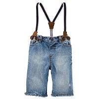 Baby Boy OshKosh B'gosh® Suspender Denim Shorts
