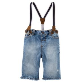 Baby Boy OshKosh B'gosh® Suspender Denim Shorts