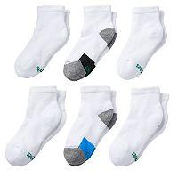 Boys 7-11 Hanes 6-Pack X-Temp Quarter-Crew Socks