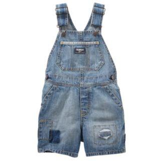 Toddler Boy OshKosh B'gosh® Patch Detail Denim Shortalls