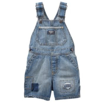 Toddler Boy OshKosh B'gosh® Patch Detail Denim Shortalls