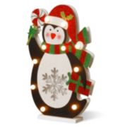 National Tree Company Pre-Lit Glitter Penguin Table Decor