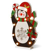 National Tree Company Pre-Lit Glitter Penguin Table Decor