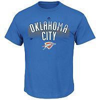 Men's Majestic Oklahoma City Thunder Reflective Skyline Tee