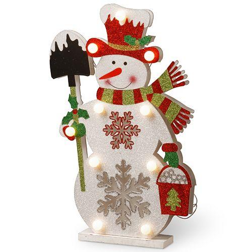 National Tree Company 17-in. Pre-Lit Glitter Snowman Table Decor