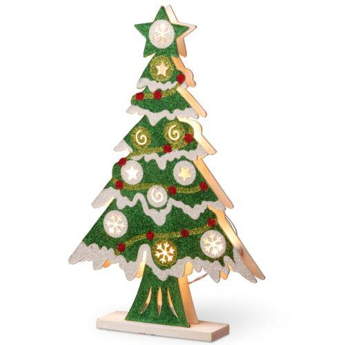 National Tree Company Pre-Lit Glitter Christmas Tree Table Decor