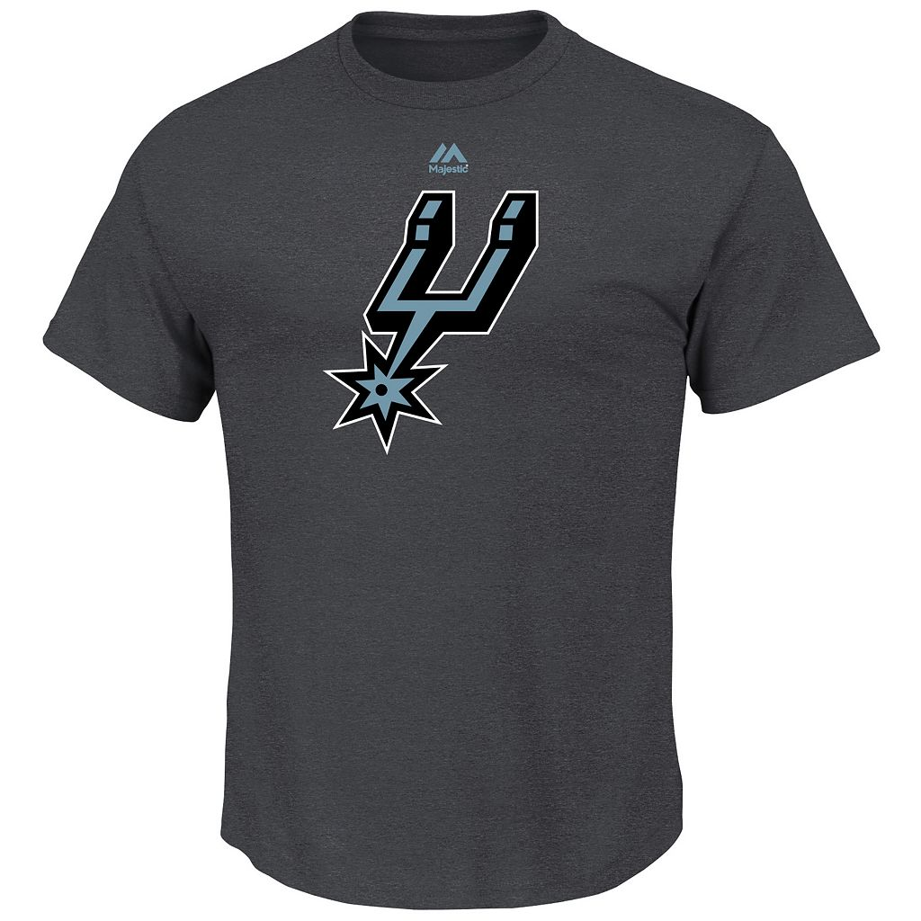 Men's Majestic San Antonio Spurs Logo II Tee